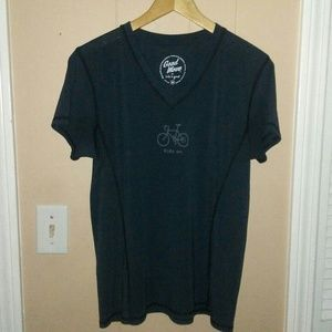 "GOOD MOVE by LIFE IS GOOD ""Ride On"" T-shirt Size M"